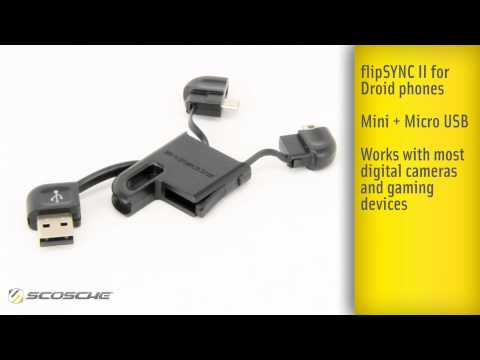 flipSYNC and flipSYNC II Scosche Industries Charge and Sync Cable