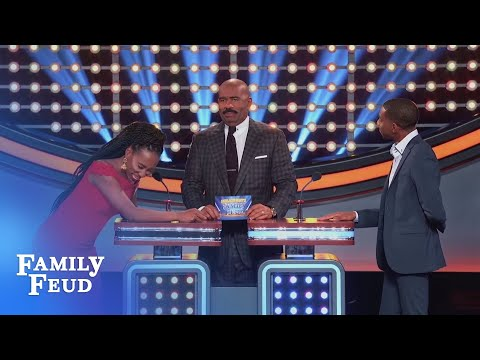 Brandi gives the #1 answer... to BRODERICK! | Celebrity Family Feud