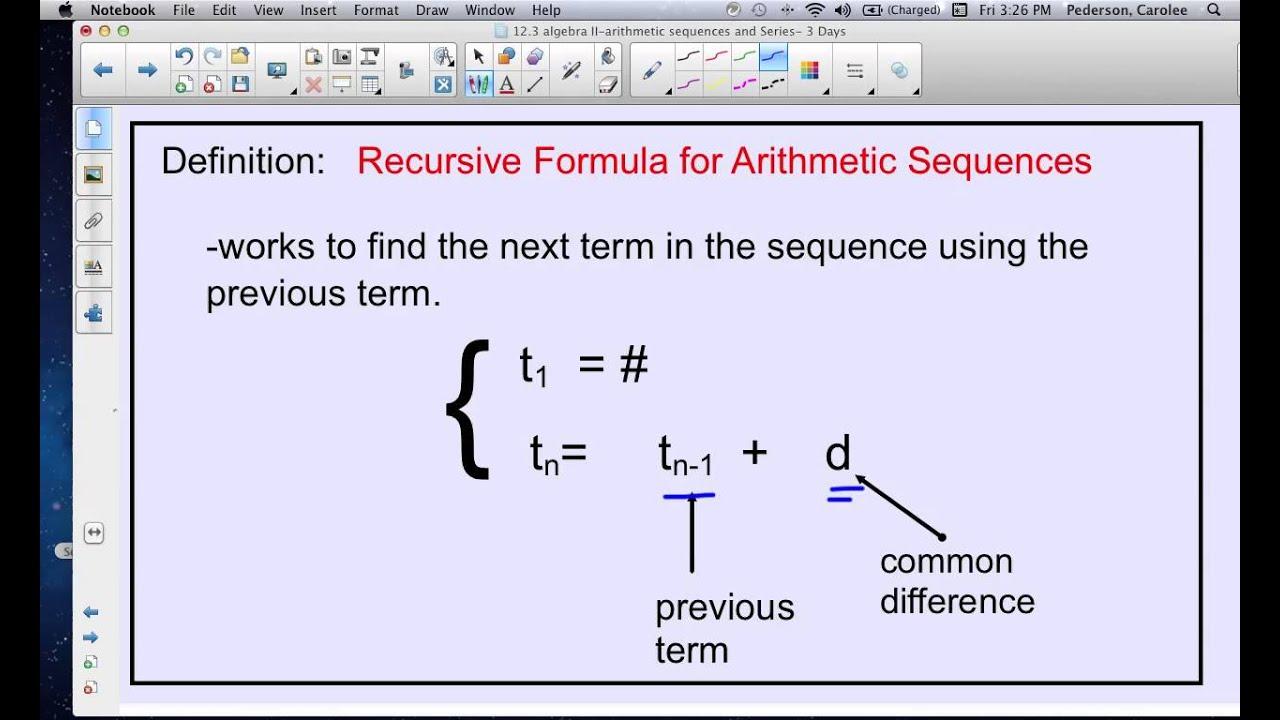 Sequences And Formulas