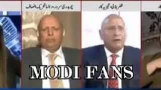 Pakistani Halali burning on Modi' foreign policy