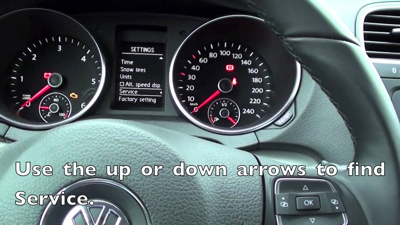 How To Reset Service Light On 2012 Vw Jetta  Golf With