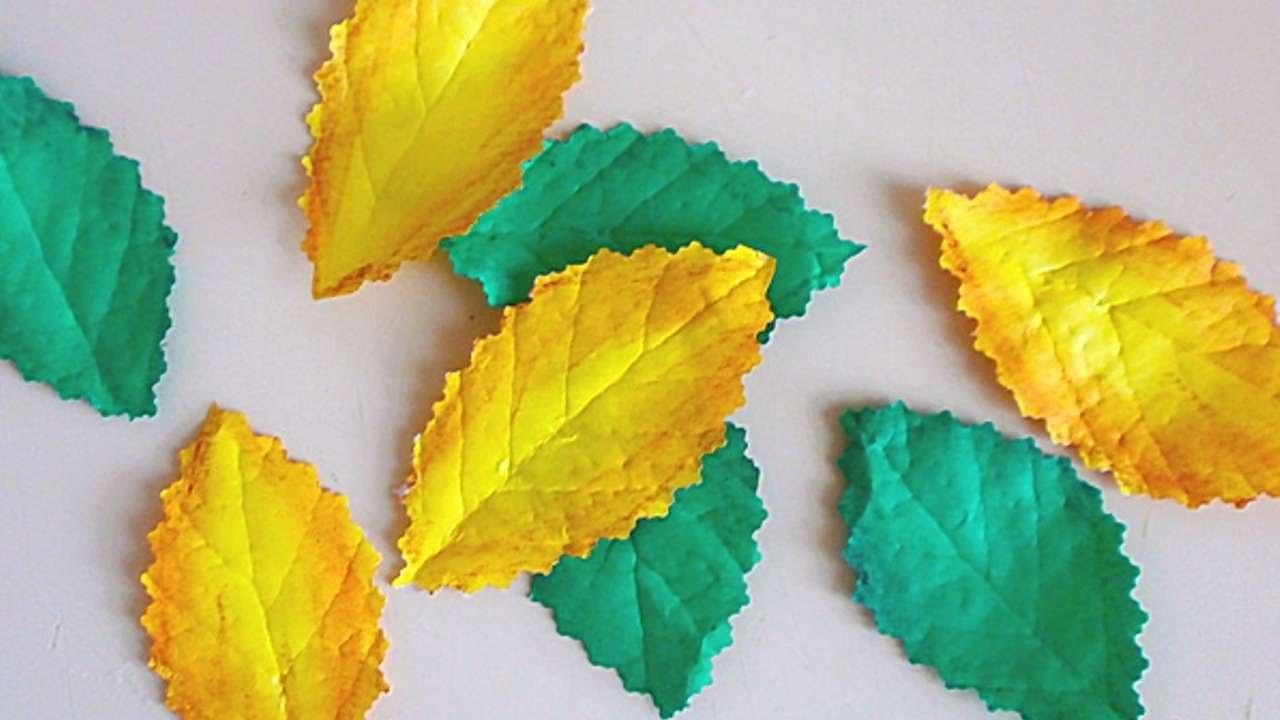 Листья для деревьев своими руками 36