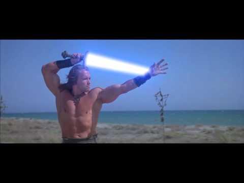 Conan Tests a Lightsaber