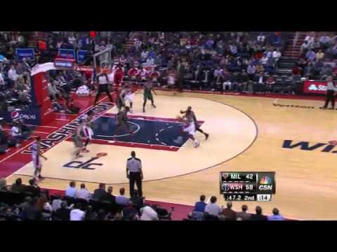 NBA CIRCLE - Milwaukee Bucks Vs Washington Wizards Highlights 13 March 2013 www.nbacircle.com