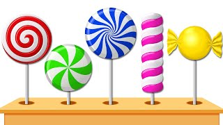 Yummy Lollipops Candies Colored for Children to Learn by KidsCamp