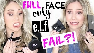 FULL FACE USING ONLY E.L.F. PRODUCTS - FAIL?!