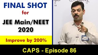 Final Shot for JEE Main 2020 | CAPS 86 by Ashish Arora Sir