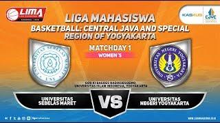 UNIV. SEBELAS MARET VS UNIV. NEGERI YOGYAKARTA WOMEN'S LIMA BASKETBALL:KASKUS CJYC 2018