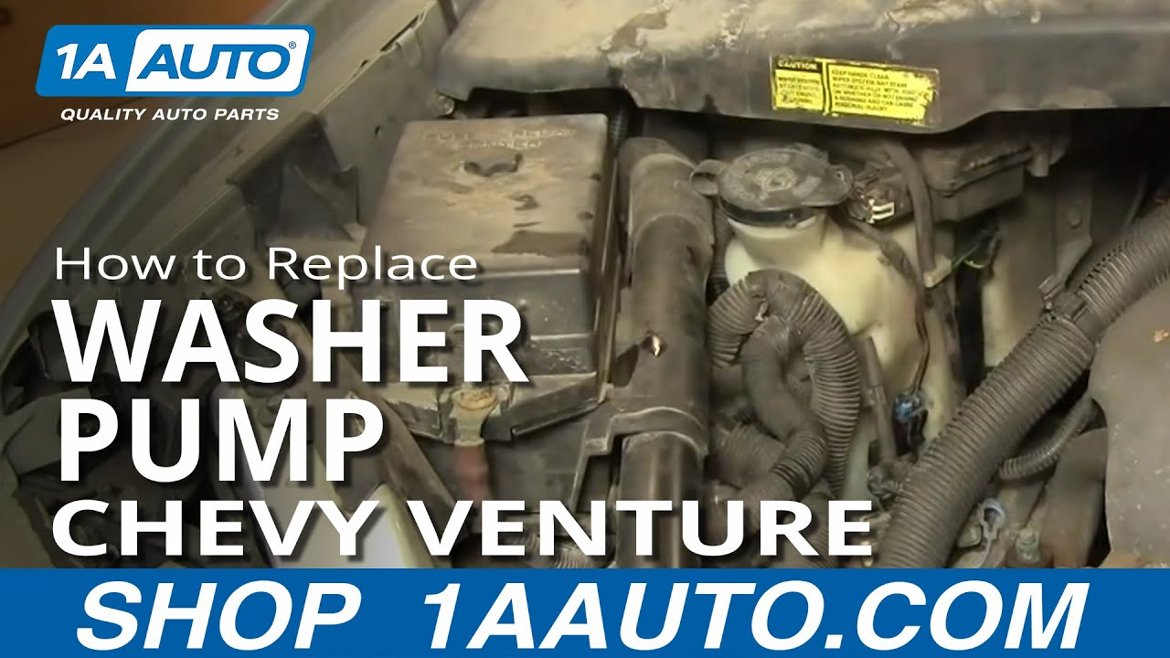 How To Install Replace Front Washer Pump Chevy Venture