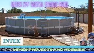 intex metal frame pool filter instructions