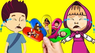 Ryder and Masha Crying For Ice Cream Learn Colors Finger Family Song