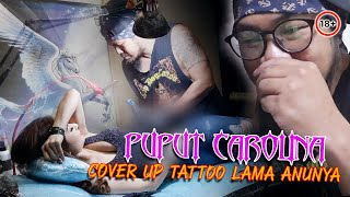 PUPUT CAROLINA cover up tattoo lama Anunya by hendric shinigami