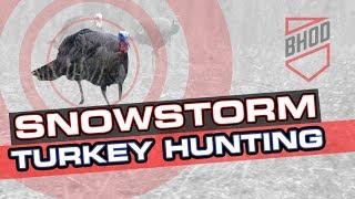Snowstorm Bowhunting - Bowhunting Turkey Kill Shot