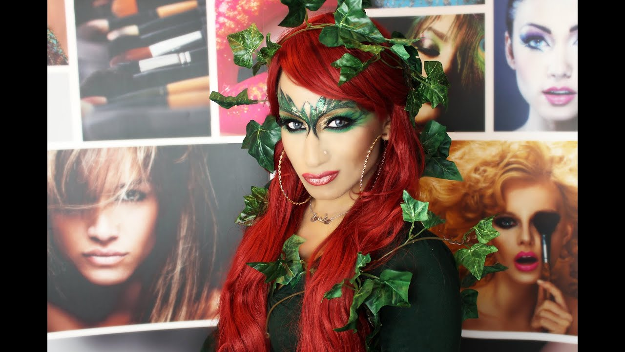 Halloween Special Poison Ivy Make Up Tutorial YouTube