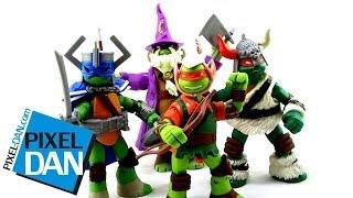 Nickelodeon Teenage Mutant Ninja Turtles LARP Live Action Role Play TMNT Figures Video Review