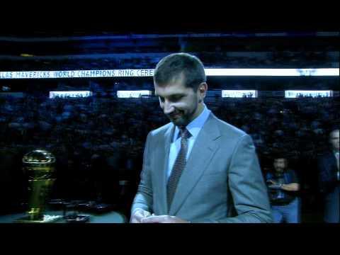 The Mavericks Get Their Championship Rings