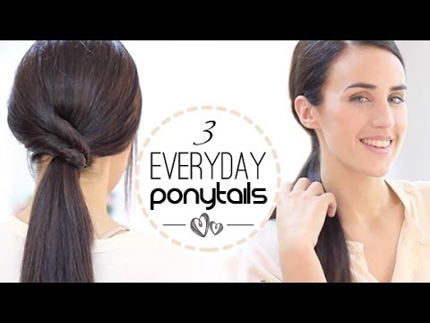 Easy Hairstyles For Short Hair Party Jordan : Easy Everyday Ponytalis - YouTube