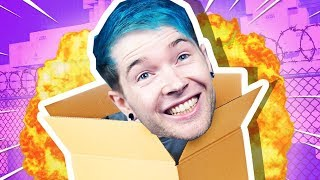 Dan Plays with Cardboard Boxes.. AND EXPLOSIONS!