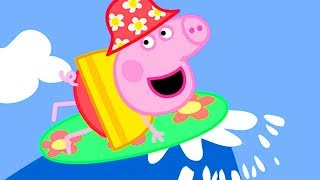 Peppa Pig English Episodes |  World Ocean Day Special! Peppa Pig's Surfing 🏄 | Peppa Pig Official