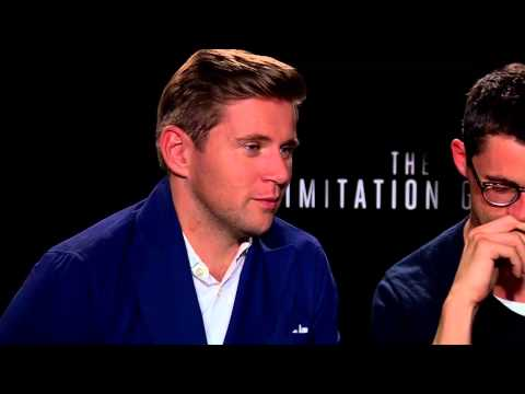 'Downton Abby's' Allen Leech and Matthew Goode have fun with 'The Imitation Game'