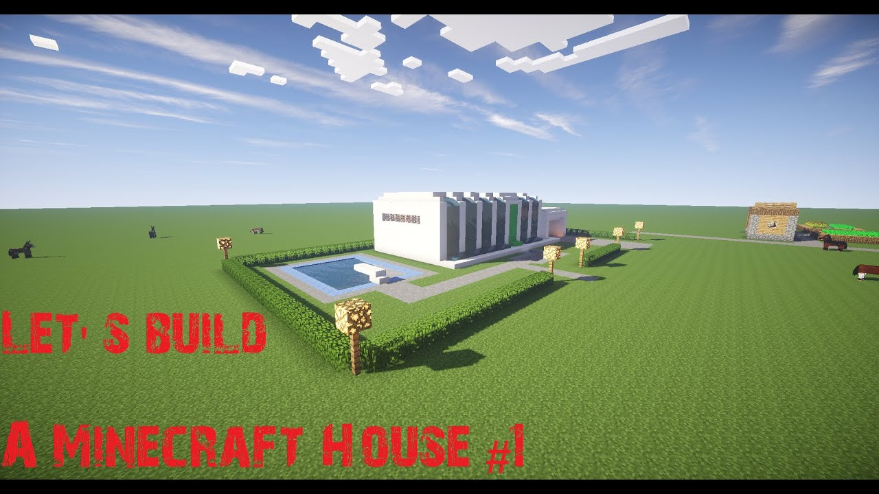 for Minecraft modernes haus bauen 1