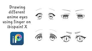 Ibispaint X: Sketching different Anime Eye (shape and emotion)