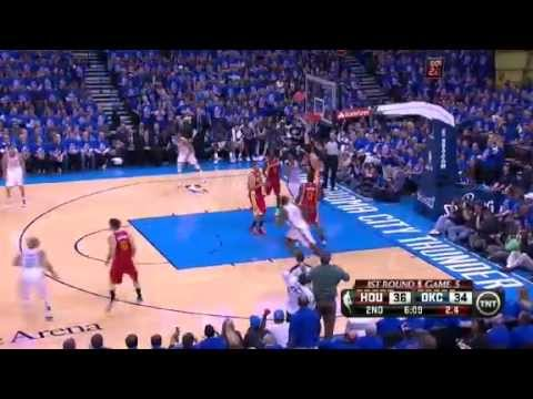 NBA Playoffs 2013: NBA Houston Rockets Vs Oklahoma City Thunder Highlights May 1, 2013 Game 5