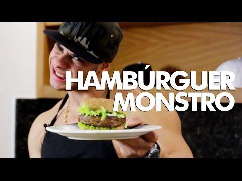 MONSTRO NA COZINHA - Hambúrguer Monstro
