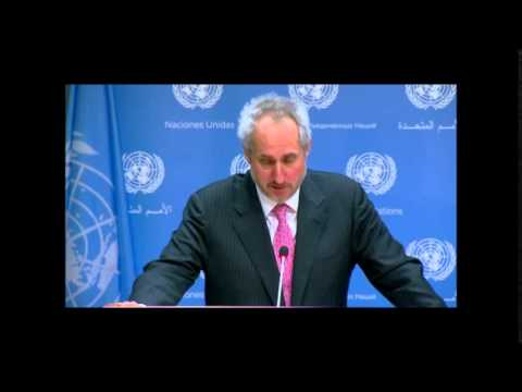 On Haiti Cholera, ICP Asks UN Spox of Victims, He: Disaster Up to National Authorities