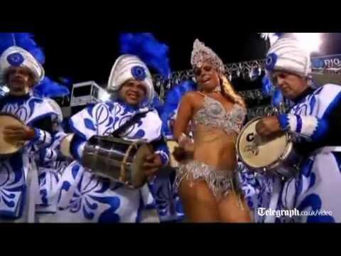Samba troupes parade at Rio's Carnival