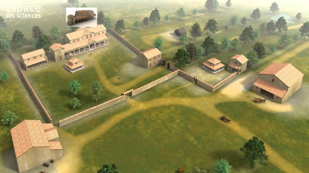Une villa gallo romaine en 3d youtube - La villa romaine antique ...