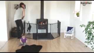 BabyDan Hearth Gate Fire Guard - How To Use | BabySecurity