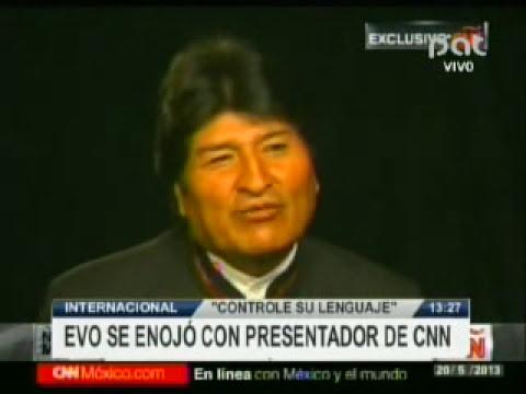 EVO SE ENOJO CON PRESENTADOR DE CNN @ RED PAT BOLIVIA