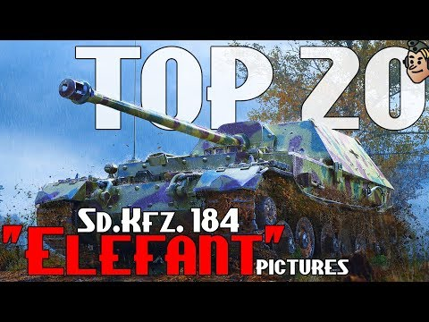 "TOP 20 RARE Pictures of Panzerjäger Tiger (P) ""ELEFANT"" Sd.Kfz. 184"