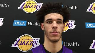 Lonzo Ball glad LiAngelo is home, talks Ben Simmons, 76ers matchup | ESPN