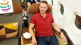 Etihad Business Class A321 (Brandneu) Flug Erfahrung Bericht Report Deutsch   GlobalTraveler.TV