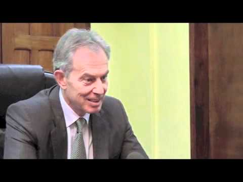 Liberia's president and Tony Blair discuss anti-gay law