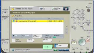 How to Print from USB on Canon Advance Imagerunner