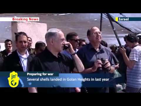 PM Netanyahu attends Golan Heights IDF military drill and warns Syria against attacking Israel