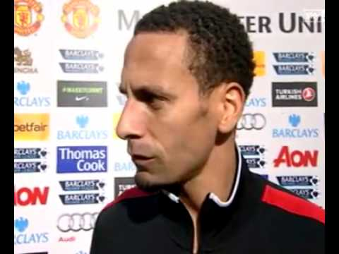 Rio Ferdinand's interview after Man Utd's 2.0 win against QPR.