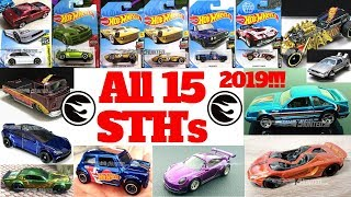 Hot Wheels 2019 Super Treasure Hunt List!!! All 15 Super Treasure Hunts!!!