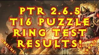 Diablo 3 T16 Puzzle Ring Tests ! PTR 2.6.5