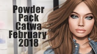Powder Pack Catwa February 2018 - Unboxing Video - Second Life Subscription Box