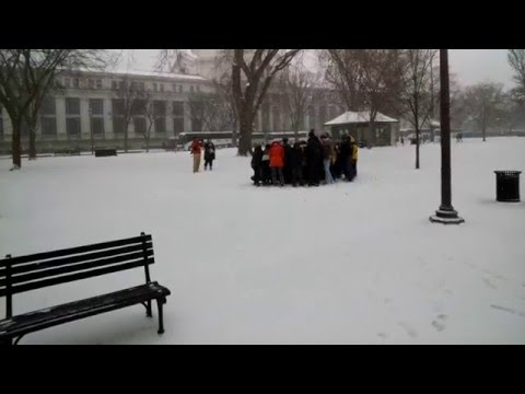 National Mall Google Glass Video Walk Through Snowstorm Janus In Washington DC
