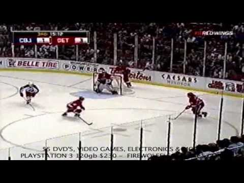 Detroit Red Wings more injuries filppula & franzen vs Columbus Blue Jackets 04-01-2010.mp4