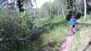 MOUNTAIN BIKE TOM BLAKE TO HIGHLINE SNOWMASS COLORADO JUNE 30 2012