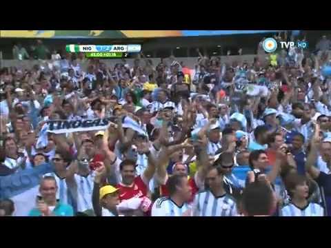 Argentina 3 Nigeria 2 Mundial Brasil 2014 - TV Publica (Sebastian Vignolo)