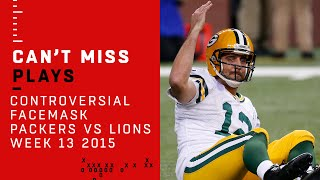 Did Controversial Facemask Penalty Cost the Lions a Win? | Packers vs. Lions | NFL