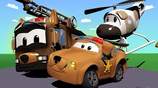Car Patrol -  Special puppy day - Hella falls in the river - Car City ! Police Cars and fire Trucks