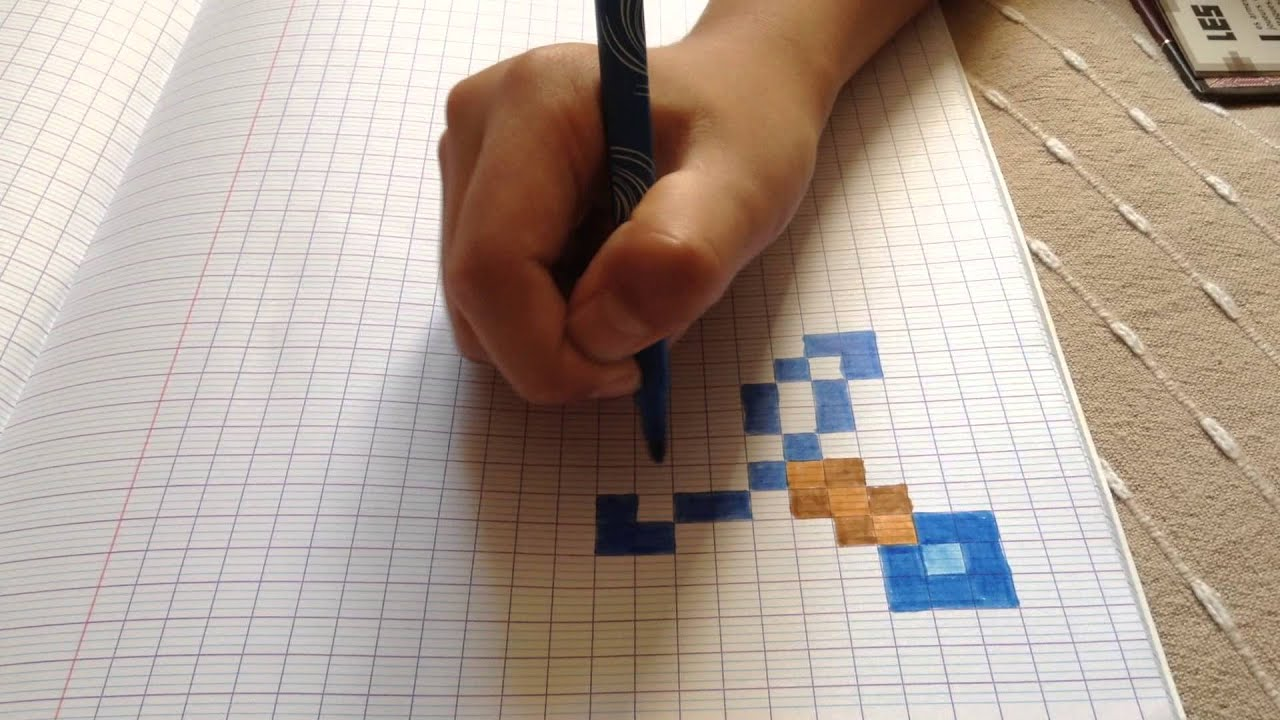 comment dessiner une epee minecraft